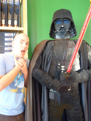 Casey being choked by Darth Vader