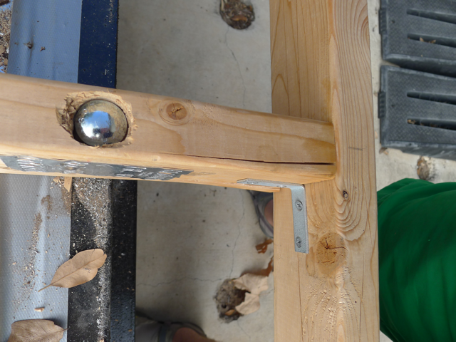 Carriage Bolts Through Frame of Tiny House - Casey Friday