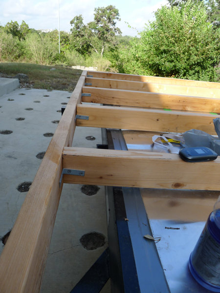 L-Brackets on Tiny House Frame - Casey Friday