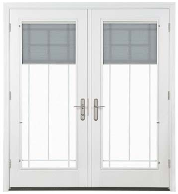 Pella Designer Series 750 Hinged Patio Door - Snap-in Shades Available