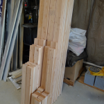 Tiny House - Wall Lumber Pre-cut and Arranged