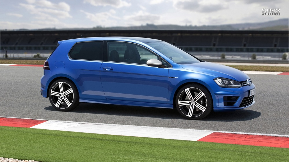 2014 VW Golf R Blue