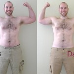 P90X Day 60 Front Flex Comparison