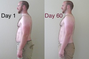 P90X Day 60 Side Comparison
