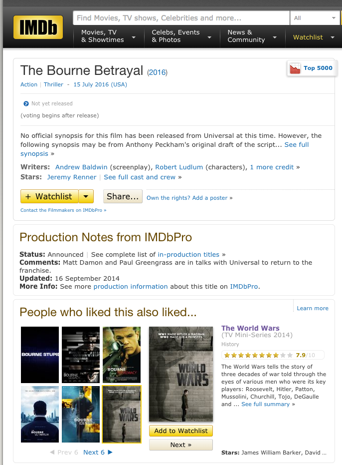 The Bourne Betrayal