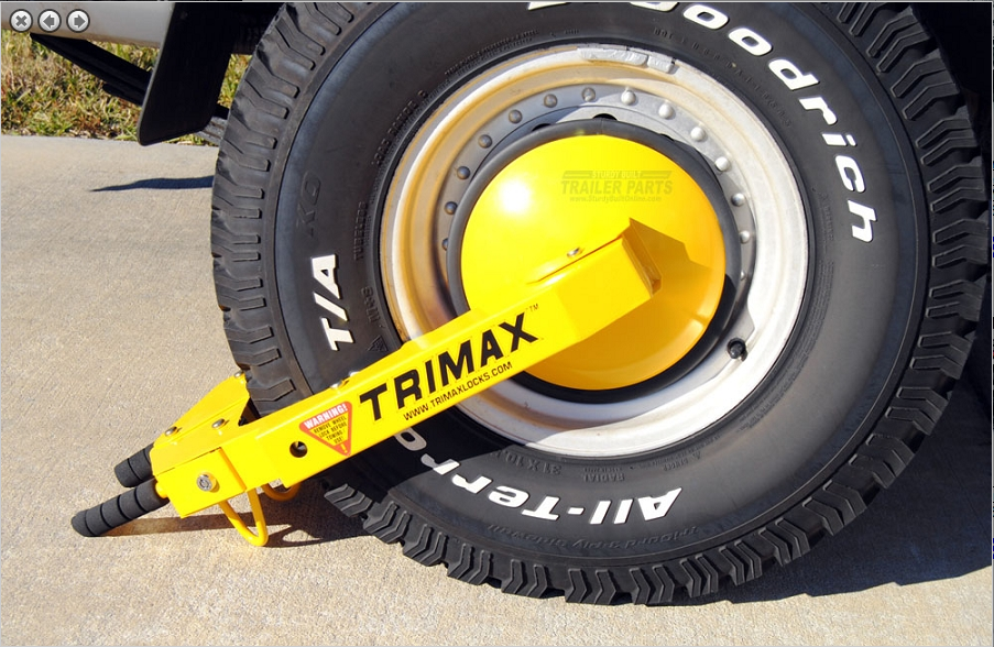 Trimax Trailer Wheel Lock Boot Clamp TWL100
