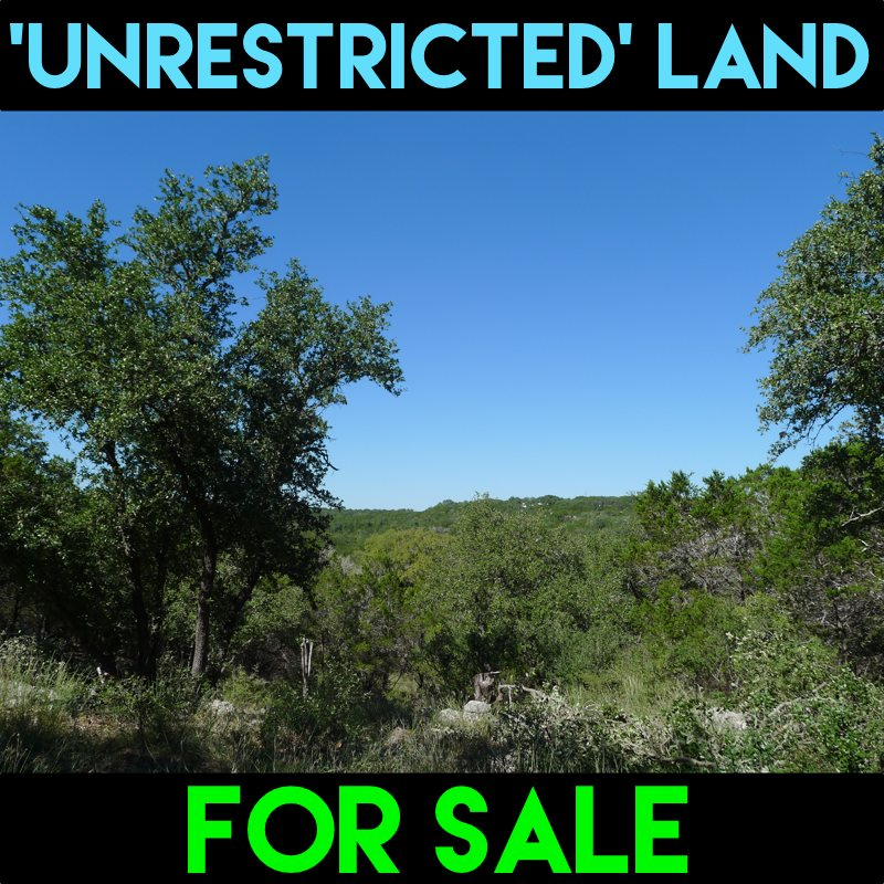 Unrestricted Land for Sale in Spring Branch, TX