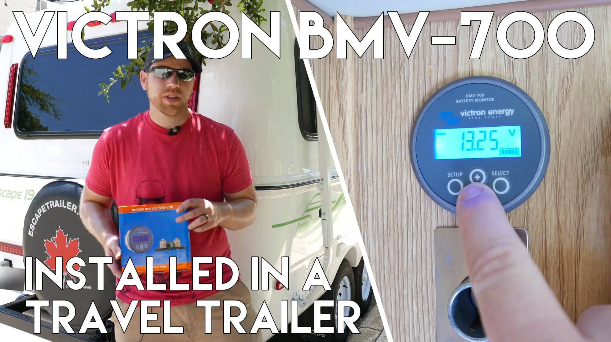 Battery Monitor BMV-700 in Escape Travel Trailer - Full Time RV