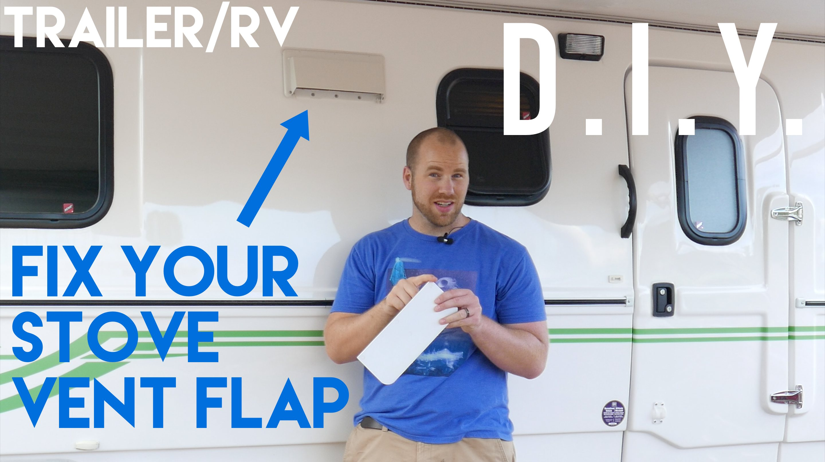 Fix RV Trailer Vent Flap - 2015 Escape 19
