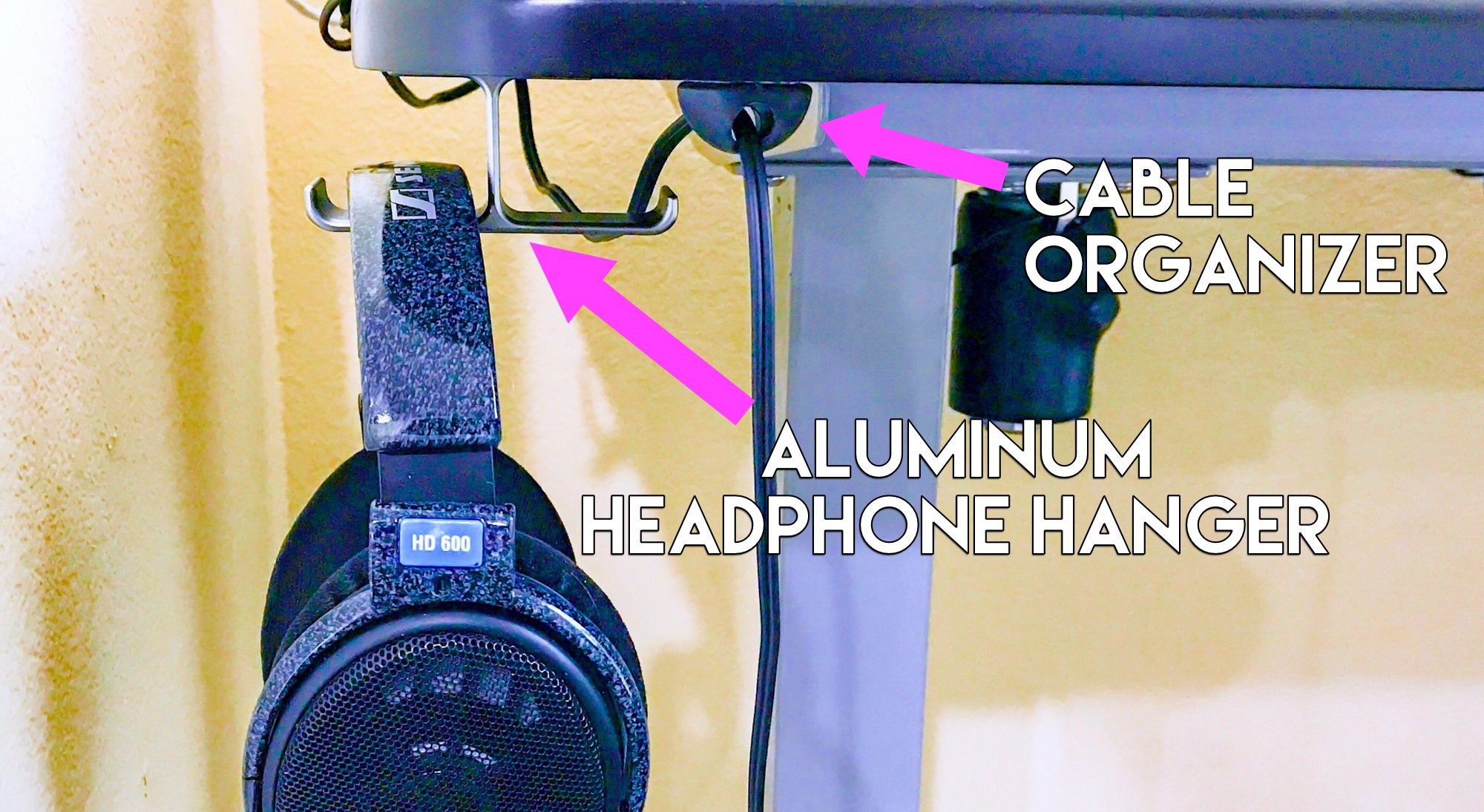 Aluminum Headphone Desk Hanger - Organize My Desk