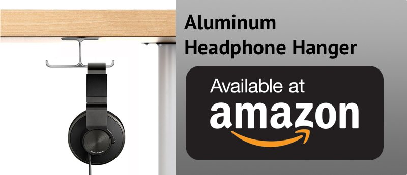 Aluminum Headphone Hanger at Amazon - Organize My Desk