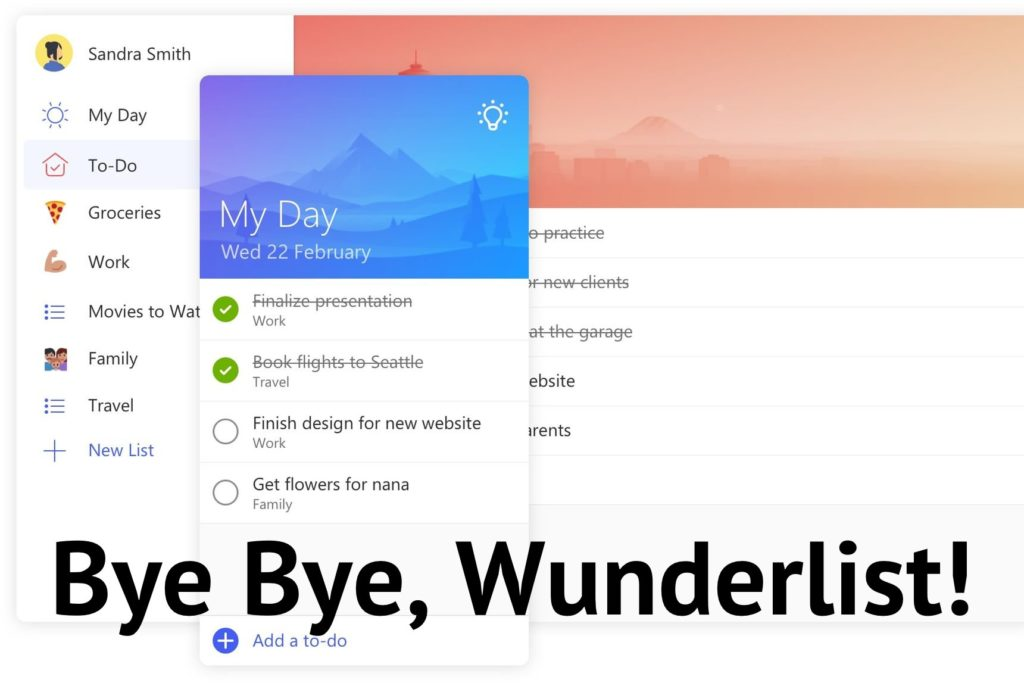 Microsoft To-Do is Replacing Wunderlist